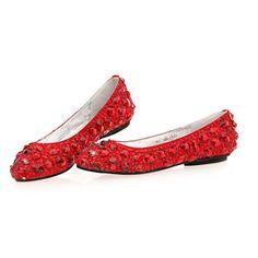 Large Size 4 5 9 10 11 Red Leather Flat Wedding Ballet Flats Shoe Women  SKU-1090423 #dental #poker