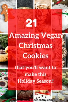 Christmas cookies are my favorite Christmas tradition! Check out these easy vegan christmas cookie recipes and enjoy giving them to your kids cus they're also healthy! Chocolate Christmas Cookies, Vegan Christmas Cookies, Holiday Cookies, Christmas Desserts, Christmas Recipes, Healthy Vegan Desserts, Healthy Snacks For Kids, Vegan Meals, Vegan Food