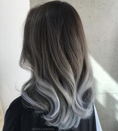 Brown+To+Gray+Ombre+Hair