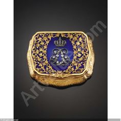 KING LÉOPOLD II: A JEWELLED GOLD AND ENAMEL ROYAL PRESENTATION SNUFF BOX sold by Sotheby's, Amsterdam, on Saturday, March 22, 2003
