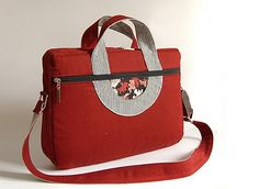 Items similar to Laptop bag, bag on Etsy Laptop Bag, Creations, Handbags, Tote Bag, Trending Outfits, My Style, Unique Jewelry, Handmade Gifts, Red