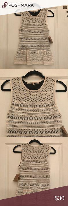 RACHEL Rachel Roy knit top! Super cute knit sleeveless top. NWOT. Sz L but more like a small. Does have a little stretch. RACHEL Rachel Roy Tops