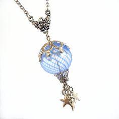 Starlight Flight  Hot Air Balloon Necklace by TrashAndTrinkets