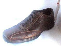 ROCKPORT MENS BROWN LEATHER AIR CUSHION SOLE OXFORDS SIZE 10.5 W BEIGE STICTHING #Rockport #Oxfords