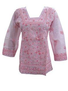 Mogul Women's Cotton Hand Embroidered Tunic Top Kurti Blouse M Mogul Interior http://www.amazon.com/dp/B00WQWKEOC/ref=cm_sw_r_pi_dp_Qxn-vb0FR2QHT
