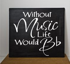 Hand painted custom music quote canvas - Can be customized with choice of colors