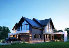 Реконструкция коттеджа в Пестово Dream House Exterior, Dream House Plans, Modern House Plans, Dream Houses, Modern Architecture House, Architecture Design, Modern Villa Design, Sims House, Dream Home Design