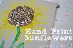 Hand Print Sunflower ~ Creative Family Fun
