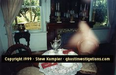 WINCHESTER MYSTERY HOUSE GHOST!' Photo below by Steve Kompier taken in the Winchester Mystery House using a Nikon N70 and Kodak ISO200 Film.