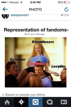 You could probably put 5sosfam right up there with the Directioners though..