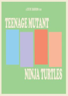 Teenage Mutant Ninja Turtles minimalist movie poster