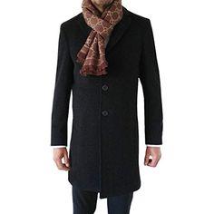 Freiherr von Falkenhausen Herren Woll Mantel Woll - Mix dunkelgrau schwarz  als Kurzmantel FvF Couture e85a604e22