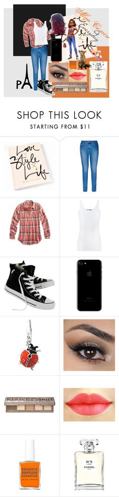 """""""Alya Césaire-Everyday"""" by sheridub on Polyvore featuring moda, City Chic, Lucky Brand, Vince, Converse, Urban Decay, Chanel y plus size clothing"""