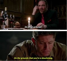 "[SET OF GIFS] ""And no douchebag should have that much power."" 8.23 Sacrifice #S8 #SPNS8 #Supernatural"