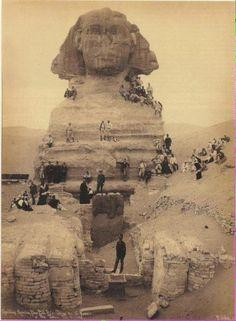 La excavación de la Esfinge, (alrededor de 1850)