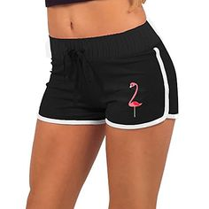 Flamingo Girls Women Summer Casual Sexy Low Waist Shorts Hot Pants Shorts Beach Shorts >>> See this great product.(It is Amazon affiliate link) #babygift
