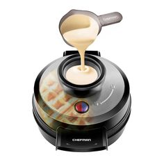 Chefman Belgian Waffle Maker, Patented No Overflow Perfect Pour Volcano Waffle Iron for Mess-& Stress-Free Waffles Best Small Appliance Innovation Award Winner-FREE Measuring Cup & Pour - Cool Kitchen Gifts Cooking Appliances, Specialty Appliances, Cooking Gadgets, Small Kitchen Appliances, Kitchen Utensils, Kitchen Knives, Kitchen Tools, Kitchen Dining, Red Kitchen