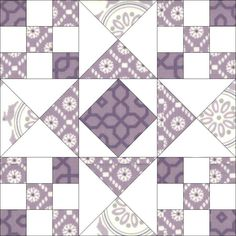 This is block pattern I used for vintage sheets quilt. Didn't have enough contrast so it didn't really show much distinction.