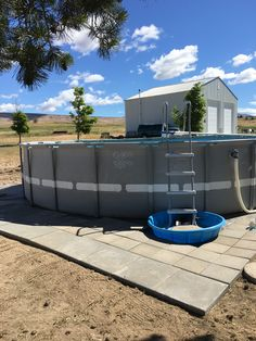 Above ground pool landscapes Above Ground Pool Landscaping, Backyard Landscaping, Diy Pool, Pool Fun, Swiming Pool, Swimming, Rectangle Pool, Stock Tank Pool, Pool Installation