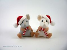 Little Christmas Candy Cane Mice