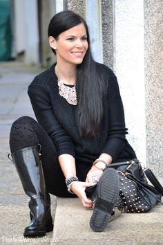 PAULA DEIROS´S SECRETS: Zara´s Total Black Look #zara #totallook #blogger #pauladeiros