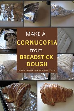This bread art cornucopia makes a lovely table centerpiece and so easy to do the kids can make it. How to make bread cornucopia. Easy Dinner Recipes, Easy Meals, Bread Art, Thanksgiving Centerpieces, Just Pretend, Good Food, Fun Food, Summer Treats, How To Make Bread