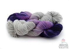Silver sugar plum fairy is a stunning mix of pale grey, light pink, light purple and dark purple. These are hand dyed in small batches and no two are identical. This yarn is superwash but to extend the life of your beautiful hand made item I recommend hand washing with cool water and