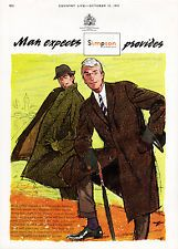 1961 SIMPSON of PICCADILLY Authentic Vintage Men's Fashion Magazine Ad
