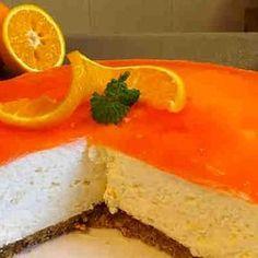 Tarta fría de naranja