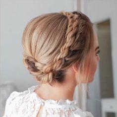 Box Braids Hairstyles, Quick Hairstyles, Bride Hairstyles, Hairstyle Wedding, Hairstyles Videos, Braided Crown Hairstyles, School Hairstyles, Hairstyles For Women, Indian Bun Hairstyles