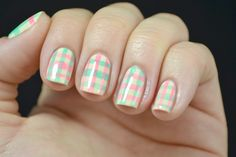 Learn How To Get These Fun Plaid Nails   Beauty High