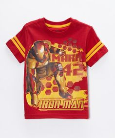 This Red Iron Man 'Mark 42' Tee - Toddler is perfect! #zulilyfinds