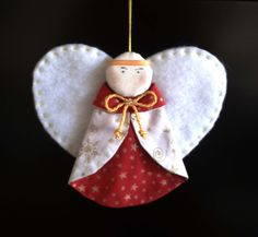 PATCHWORK en L´ARMENTERA: Angel, Adorno de Navidad Christmas Gifts To Make, Christmas Makes, Christmas Items, Christmas Angels, Angel Crafts, Christmas Crafts, Christmas Decorations, Christmas Ornaments, Holiday Decor