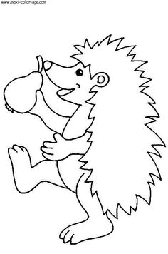 coloring page Hedgehogs on Kids-n-Fun. Coloring pages of Hedgehogs on Kids-n-Fun. More than coloring pages. At Kids-n-Fun you will always find the nicest coloring pages first! Farm Animal Coloring Pages, Cool Coloring Pages, Free Printable Coloring Pages, Coloring Pages For Kids, Coloring Books, Drawing For Kids, Art For Kids, Hedgehog Colors, Activities For Kids