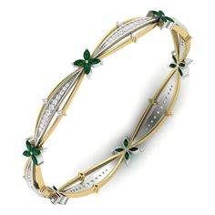 Bangles: Browse the wide range of Bangles with attractive designs. Shop fancy designs of Bangles from an online diamond jewelry store in India. Diamond Brooch, Diamond Bangle, Diamond Jewelry, Jewelery, Silver Jewelry, Gold Bangles Design, Jewelry Design, Bangle Set, Bangle Bracelets