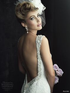allure couture wedding dress fall 2013 open back gown style c261