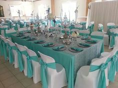 Tiffany Blue Party, Tiffany Birthday Party, Tiffany Theme, Tiffany Wedding, Tiffany Blue Weddings, Green Weddings, Romantic Weddings, Blue Wedding Decorations, Quinceanera Decorations