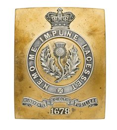 British; The Royal Scots Fusiliers, Officer's Shoulder Belt Plate, 1881-1902(formed from 21st Foot)