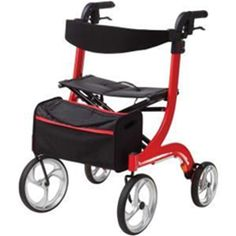 Drive Nitro Rollator    •Back support height easily adjusts with tool-free thumb screw.  •Seat with fold-up handle is durable and comfortable.  •Cross brace design allows for side-to-side folding and added stability.  •Frame can be folded with one hand for ultra compact storage and portability.  •Comes with removable carry pouch. Unique attachment is secure when rollator is open or folded.