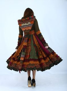 I LOVE IT!!  Colorful Fall Sweater Coat  Recycled Dream by EnlightenedPlatypus, $488.00