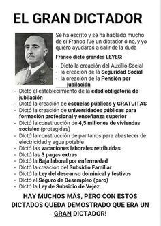 Franco dictó grandes leyes Images And Words, Blog Page, Alter, Catholic, Spanish, Memories, History, Madrid, Loft