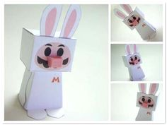 Conejo de Pascua Mario Bros- Super Mario easter Paper toy