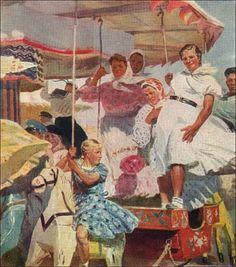 Пушнин Александр Тихонович. «Карусель» 1960 г. х.,м.
