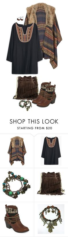 """""""BohemianDays"""" by kicsijahmeky ❤ liked on Polyvore featuring Accessorize, MANGO, Elizabeth and James, POP and Gypsy Soul"""