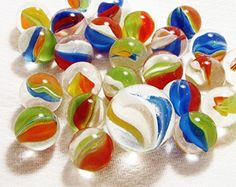 Unique  Custom 58 Inch Set Of 25 Round Clear Marbles Made of Glass for Filling Vases Games  Decor w Creative Family Fun Vibrant Cat Eye Design Assorted Colors w 1 Shooter ** Be sure to check out this awesome product. This is Amazon affiliate link.