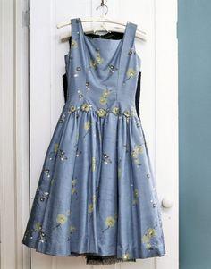 Blue vintage summer dress