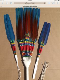 Magnificent feather made by & photo by Joe Ferguson. Native American Medicine Wheel, Native American Church, Native American Regalia, Native American Crafts, Native American Beadwork, Feather Crafts, Feather Art, Smudging Prayer, Native American Jewellery