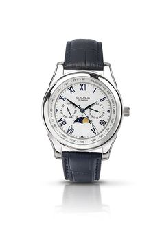 ac10e2a4d13 Sekonda Men s Quartz Watch with Silver Dial Analogue Display and Blue  Leather Strap 3504.27  Amazon.co.uk  Watches