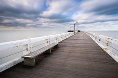 Pier - Nieuwpoort, Belgium by Bart Heirweg Newport Pier, Road Trip, Bruges, Nature Reserve, Continents, Countryside, Seaside, Landscape Photography, Beach