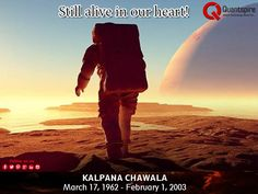 Today we pay homage to #KalpanaChawla, India's first daughter to voyage amongst the stars. You've made us all proud. Kalpana Chawla was the first #Indian #woman to #travel in a space shuttle for 372 hours and complete 252 rotations around the #Earth's atmosphere. Winning many prestigious awards in the field of #science, she has left a mark in the nation and will be remembered forever. #Tribute #FirstInIndia #Respect www.quantspire.com #digital #marketing #company